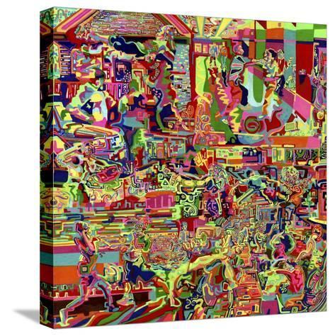 Fights-Josh Byer-Stretched Canvas Print