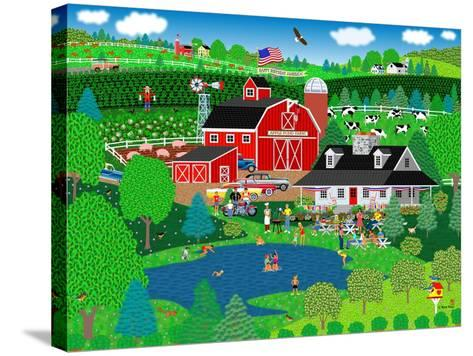 Apple Pond Farm Summer-Mark Frost-Stretched Canvas Print