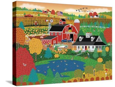 Apple Pond Farm Fall-Mark Frost-Stretched Canvas Print