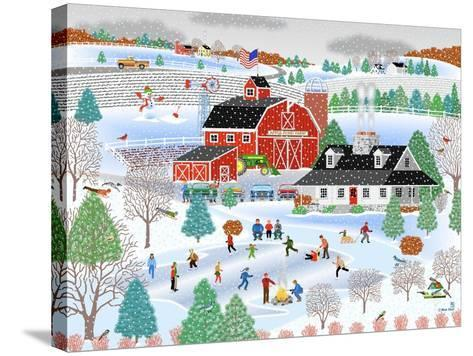 Apple Pond Farm Winter-Mark Frost-Stretched Canvas Print
