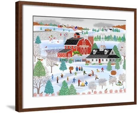 Apple Pond Farm Winter-Mark Frost-Framed Art Print