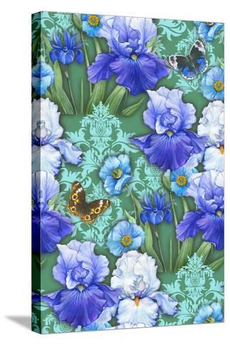 Irises (Pattern)-Maria Rytova-Stretched Canvas Print