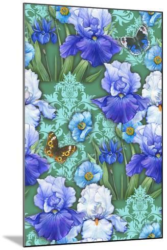 Irises (Pattern)-Maria Rytova-Mounted Giclee Print