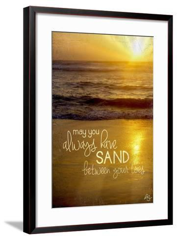 Sand Between Your Toes 2-Kimberly Glover-Framed Art Print