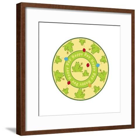 Round Frogs-Maria Trad-Framed Art Print