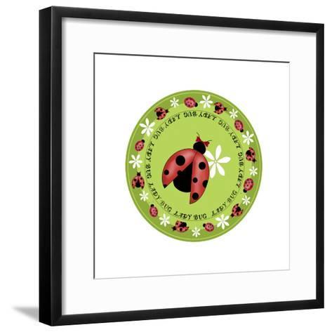 Round Lady Bug-Maria Trad-Framed Art Print