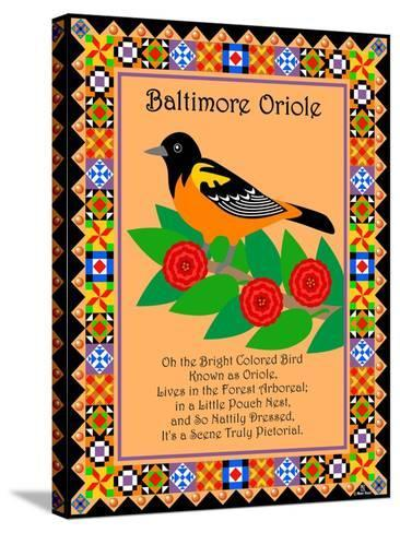 Baltimore Oriole Quilt-Mark Frost-Stretched Canvas Print