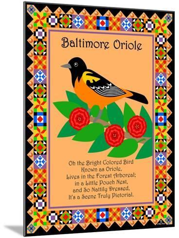 Baltimore Oriole Quilt-Mark Frost-Mounted Giclee Print
