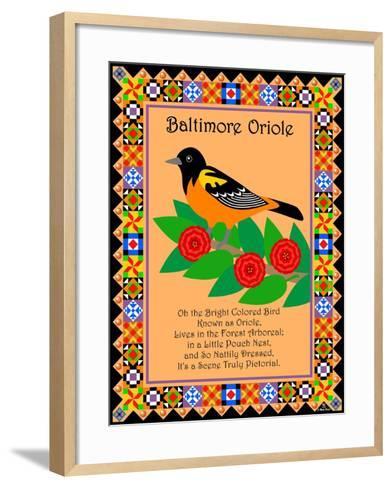 Baltimore Oriole Quilt-Mark Frost-Framed Art Print