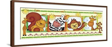 Border Jungle-Maria Trad-Framed Art Print