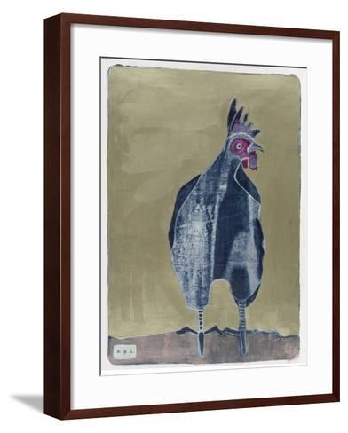 Dark Rooster 2-Maria Pietri Lalor-Framed Art Print