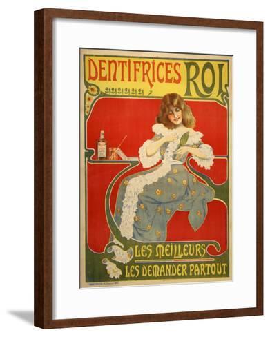 Dentifrices-Marcus Jules-Framed Art Print