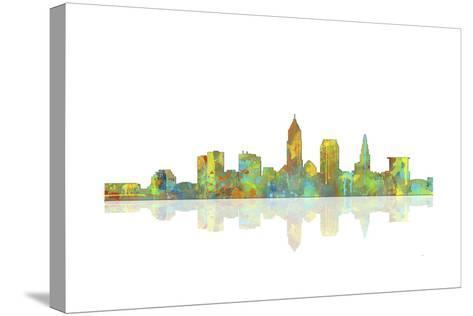 Cleveland Ohio Skyline 1-Marlene Watson-Stretched Canvas Print
