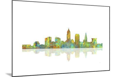 Cleveland Ohio Skyline 1-Marlene Watson-Mounted Giclee Print