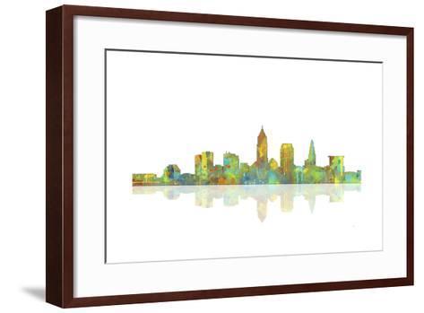 Cleveland Ohio Skyline 1-Marlene Watson-Framed Art Print