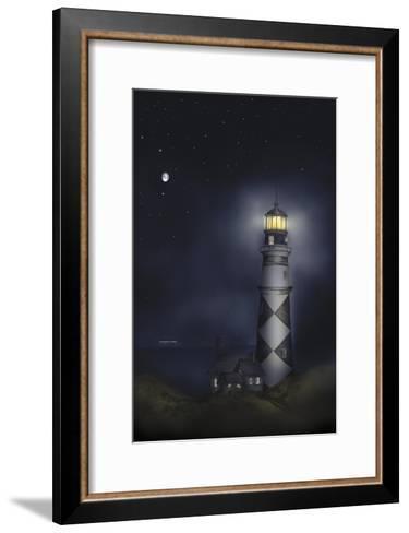 Lighthouse 01B-Maria Trad-Framed Art Print