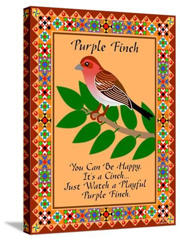 Purple Finch Quilt-Mark Frost-Stretched Canvas Print