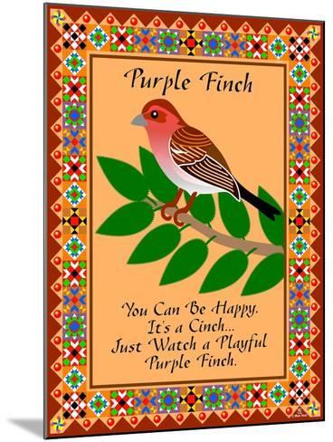 Purple Finch Quilt-Mark Frost-Mounted Giclee Print