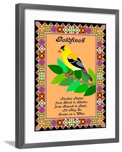 Goldfinch Quilt-Mark Frost-Framed Art Print