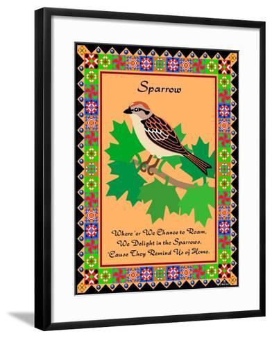 Sparrow Quilt-Mark Frost-Framed Art Print