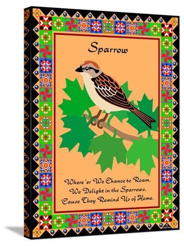 Sparrow Quilt-Mark Frost-Stretched Canvas Print