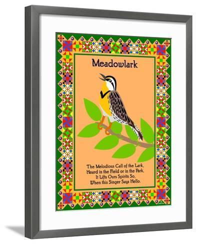 Meadowlark Quilt-Mark Frost-Framed Art Print