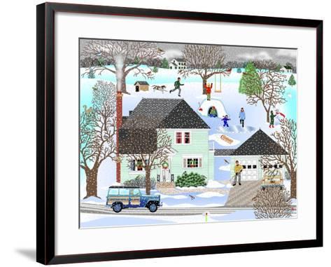 Homestead in Winter-Mark Frost-Framed Art Print