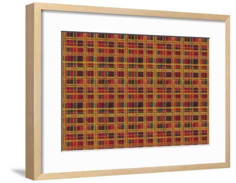 Plaid Design-Maria Trad-Framed Art Print
