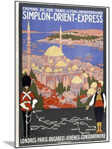 Simplon-Orient-Express-Marcus Jules-Mounted Giclee Print