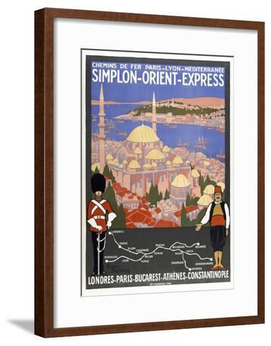 Simplon-Orient-Express-Marcus Jules-Framed Art Print