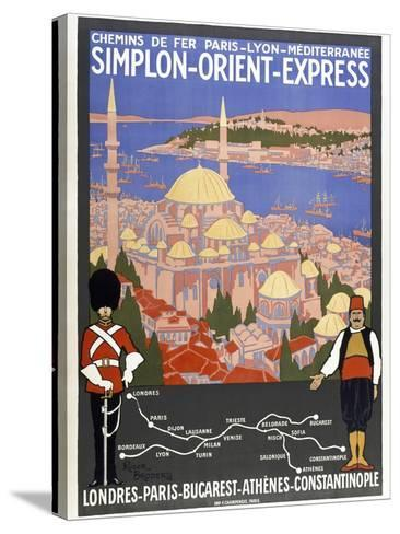 Simplon-Orient-Express-Marcus Jules-Stretched Canvas Print