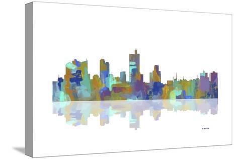 Fort Worth Texas Skyline 1-Marlene Watson-Stretched Canvas Print