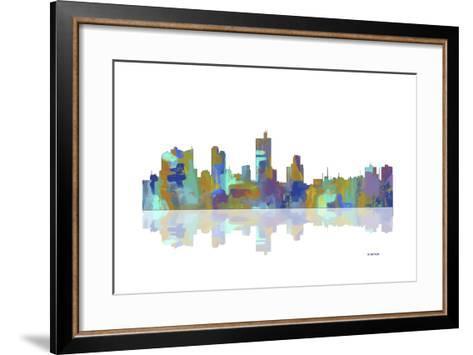 Fort Worth Texas Skyline 1-Marlene Watson-Framed Art Print