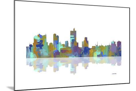 Fort Worth Texas Skyline 1-Marlene Watson-Mounted Giclee Print