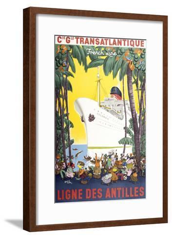 Ligne Des Antilles-Marcus Jules-Framed Art Print