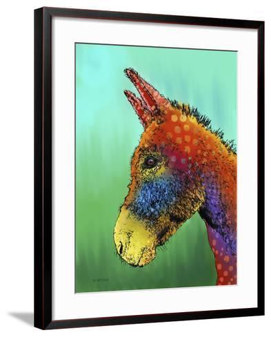 Spotted Donkey 1-Marlene Watson-Framed Art Print
