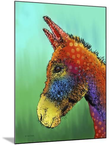 Spotted Donkey 1-Marlene Watson-Mounted Giclee Print