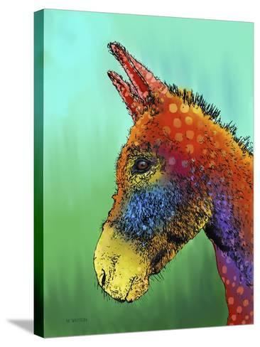 Spotted Donkey 1-Marlene Watson-Stretched Canvas Print