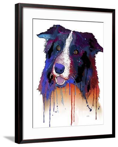 Border Collie 1-Marlene Watson-Framed Art Print