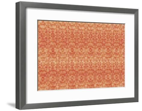 Orange Pattern-Maria Trad-Framed Art Print