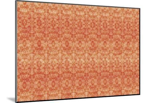 Orange Pattern-Maria Trad-Mounted Giclee Print