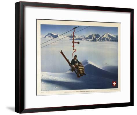 La Suisse, Paradis des Sports d Hiver-Marcus Jules-Framed Art Print