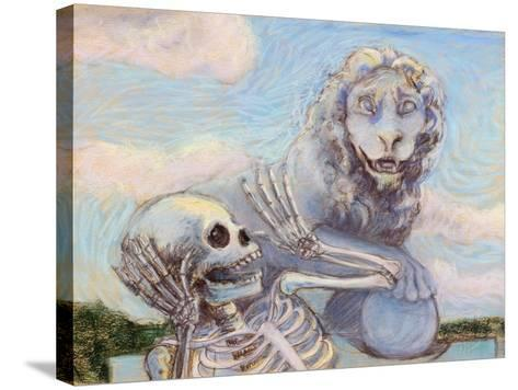 Ahh! Scary!-Marie Marfia-Stretched Canvas Print