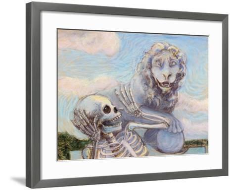 Ahh! Scary!-Marie Marfia-Framed Art Print