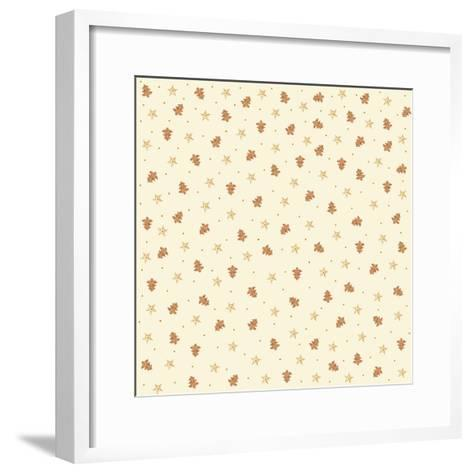 Chef Cookies Pattern-Maria Trad-Framed Art Print