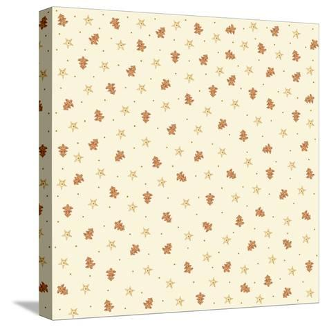 Chef Cookies Pattern-Maria Trad-Stretched Canvas Print