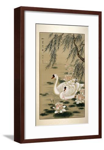 Swan Swim-Marcus Jules-Framed Art Print