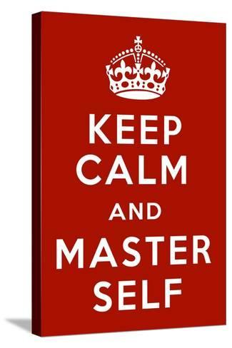 Keep Calm V-Mindy Sommers-Stretched Canvas Print