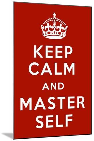 Keep Calm V-Mindy Sommers-Mounted Giclee Print
