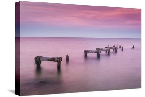 Jetty No More-Michael Blanchette-Stretched Canvas Print